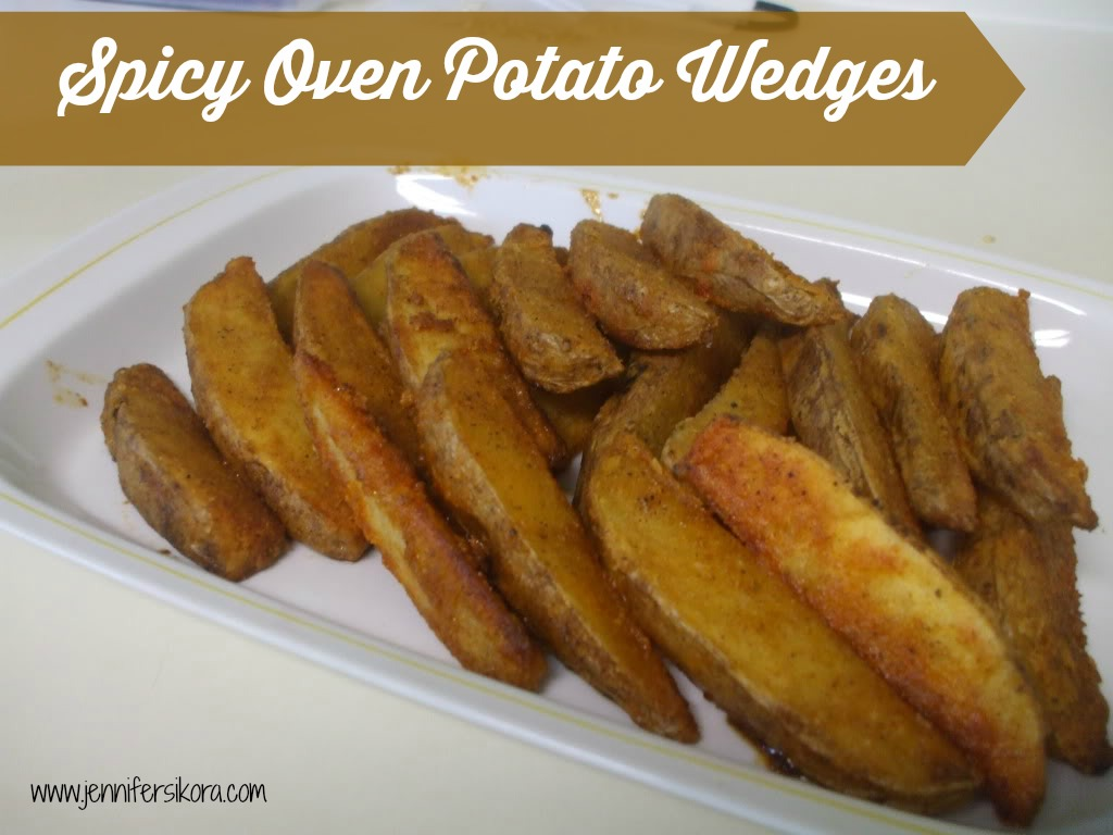 Spicy Oven Potato Wedges from Hillbilly Housewife