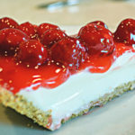 Old Fashioned Cherry Cheesecake