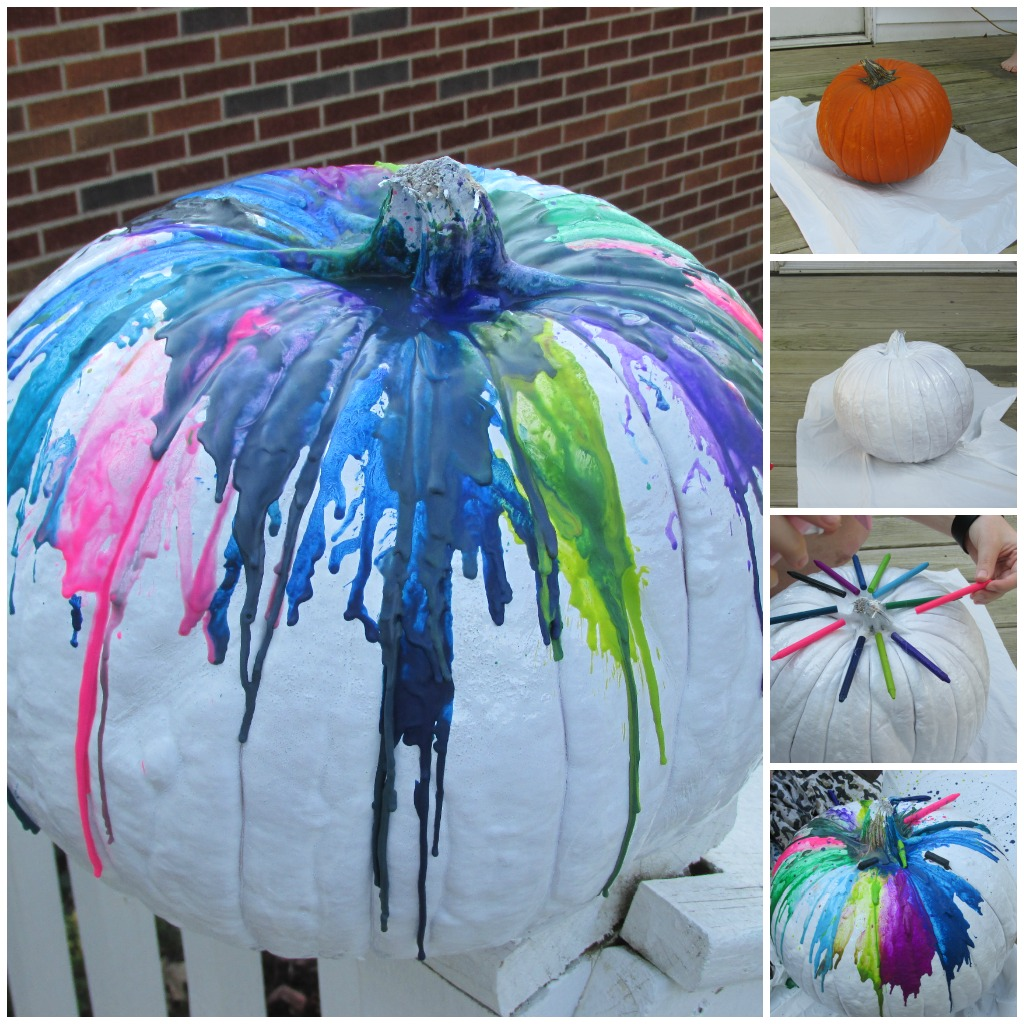 Create a DIY Splatter Pumpkin