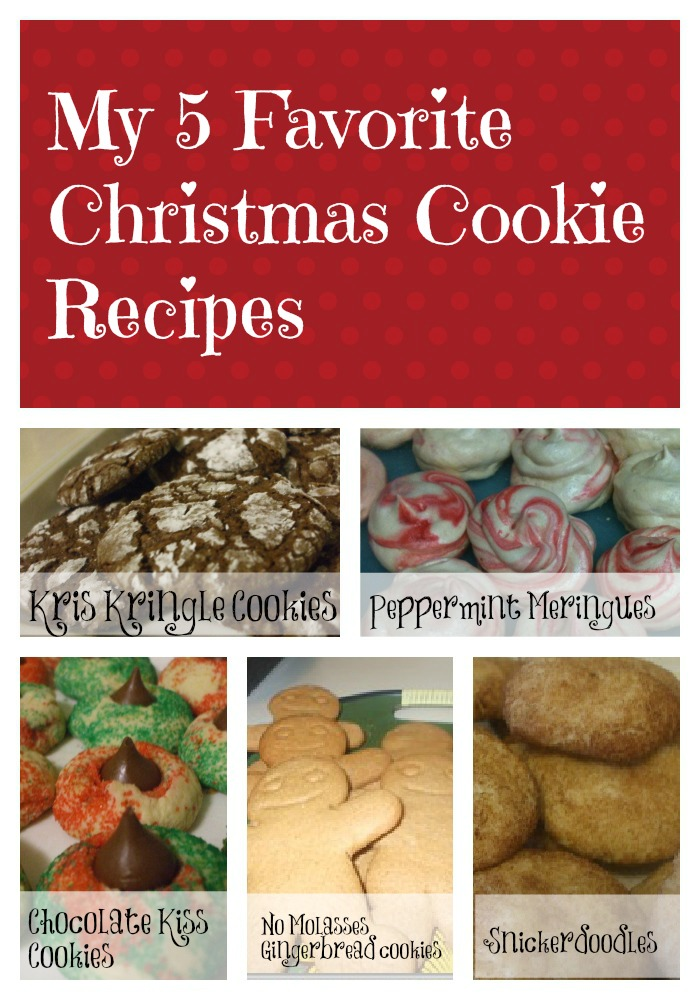 My Five Favorite Christmas Cookies