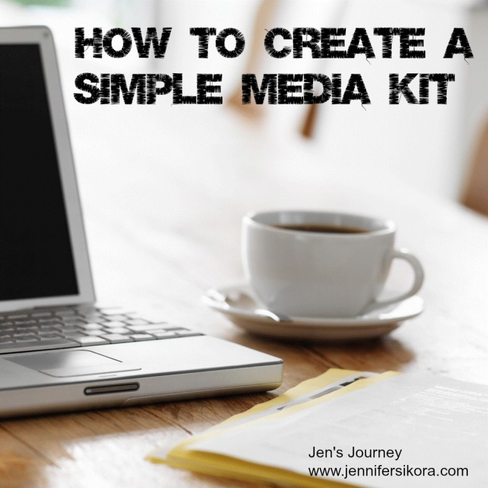 How to Create a Simple Media Kit