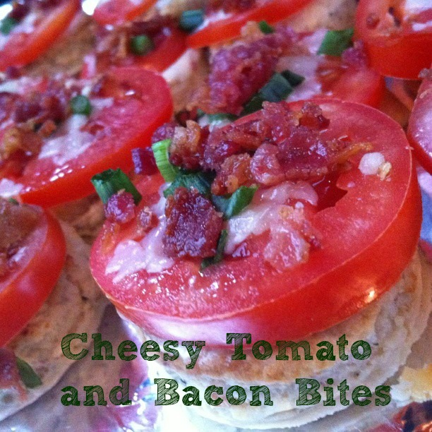 Cheesy Tomato and Bacon Bites
