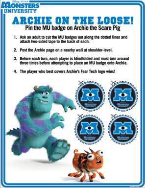 Monsters University Activity Sheets (FREE Printables) #MonstersU