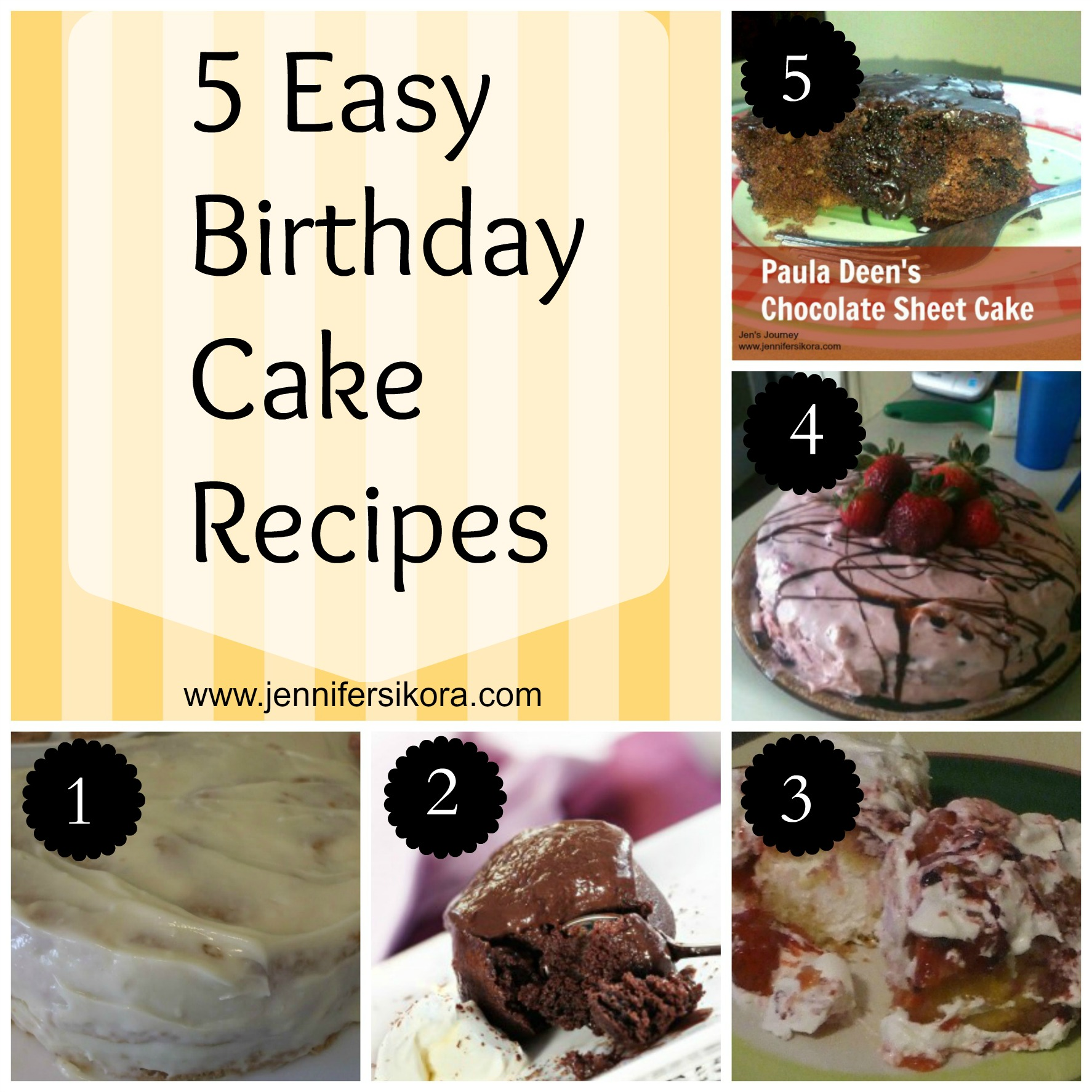 5 Easy Birthday Cake Recipes