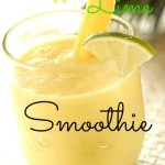 pineapple, lime and coconut smoothie