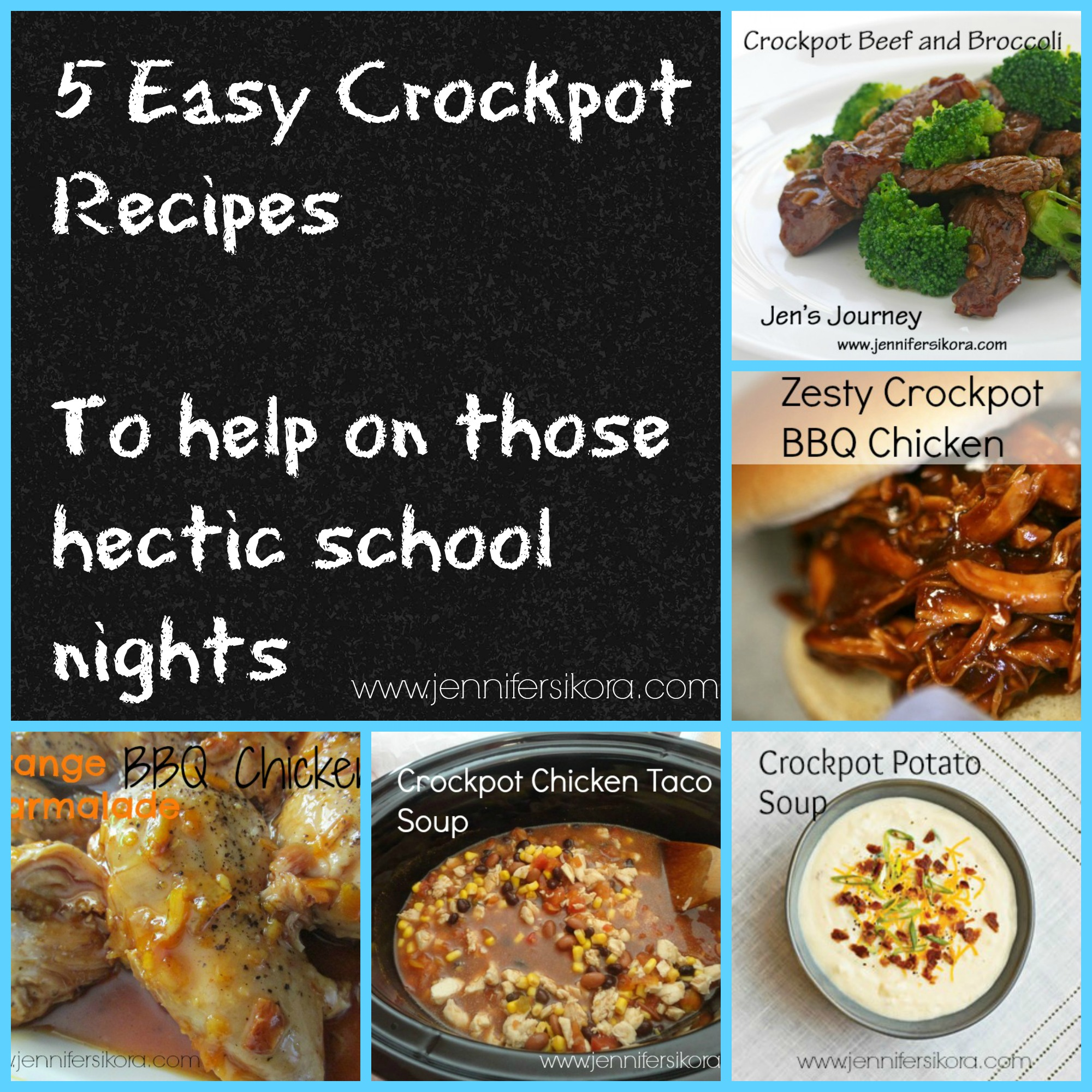 5 Easy Crockpot Recipes to Help with Those Hectic School Nights