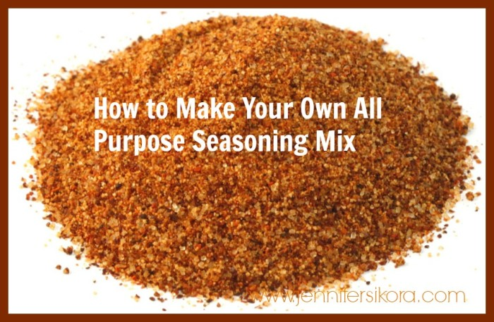 Homemade All Purpose Seasoning Mix