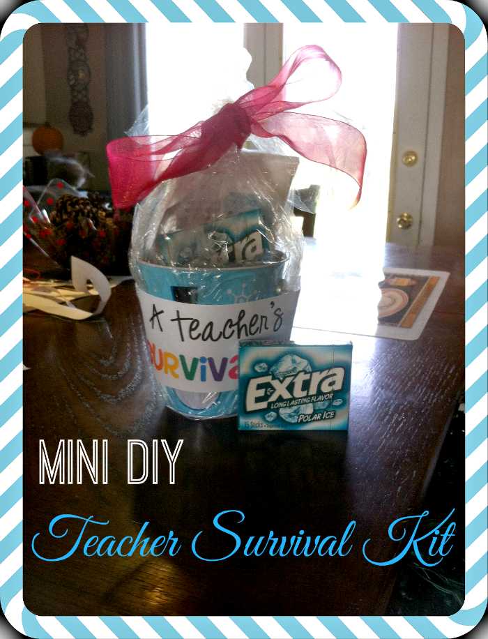 How to Create a DIY Teacher Survival Kit #shop #cbias #GiveExtraGum