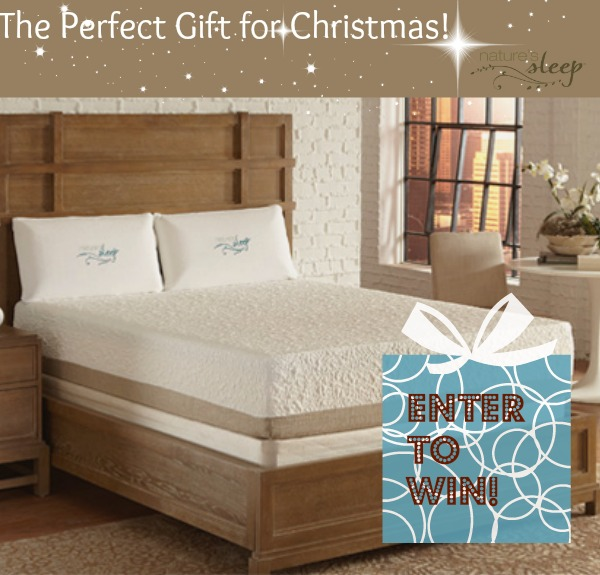 Nature's Sleep Memory Foam Matress Giveaway and a $50 Visa Gift Card