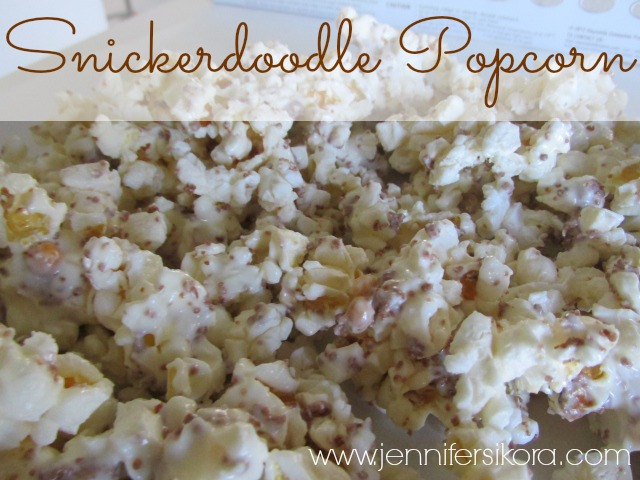 Snickerdoodle Popcorn and a new Product I Discovered (plus Giveaway)