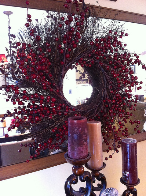 A Beautiful Cranberry Wreath for my Friend