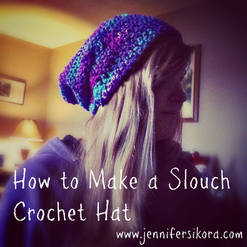 How to Make a Crochet Slouch Hat