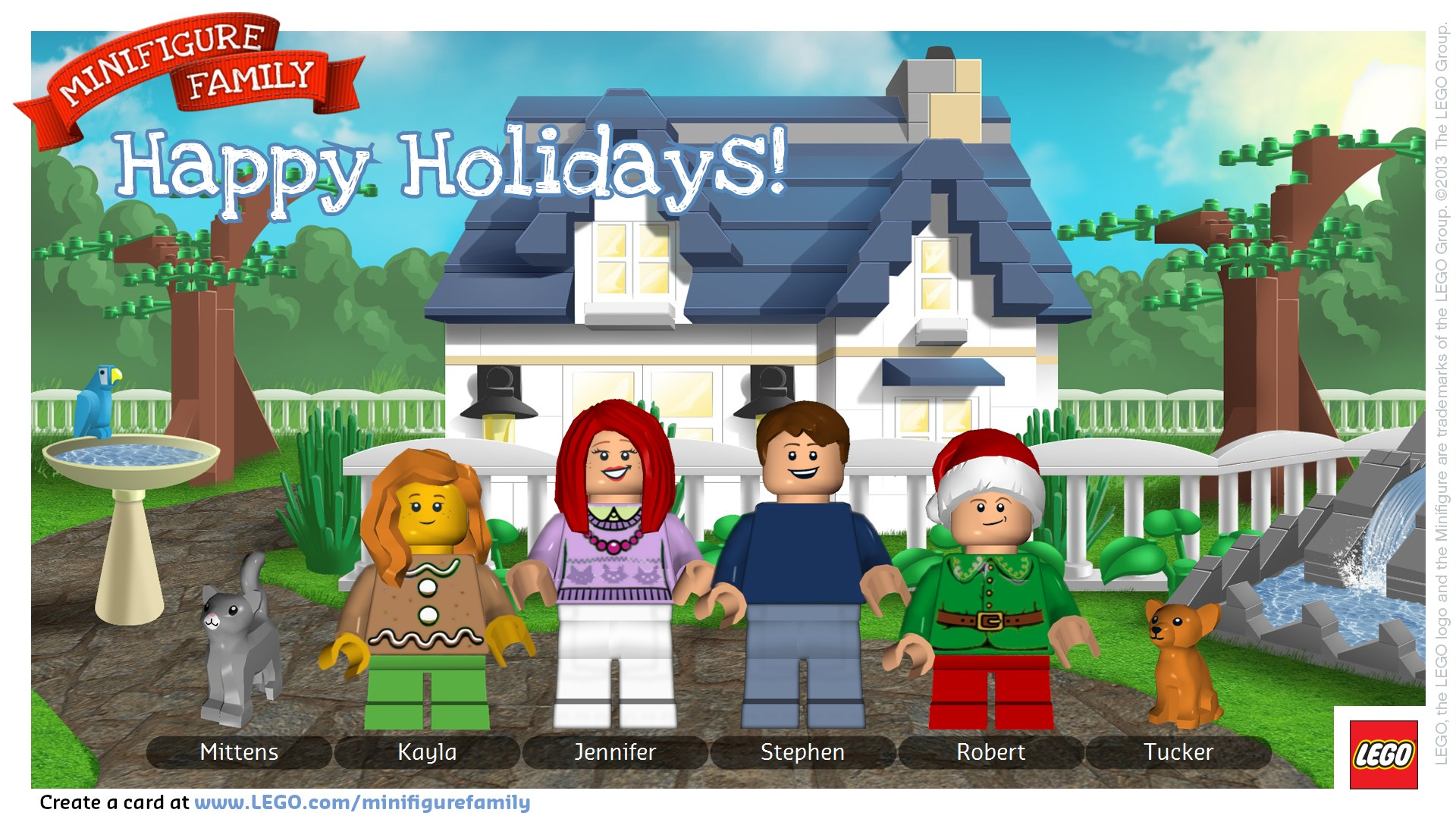 Make a LEGO Minifigure Holiday Card