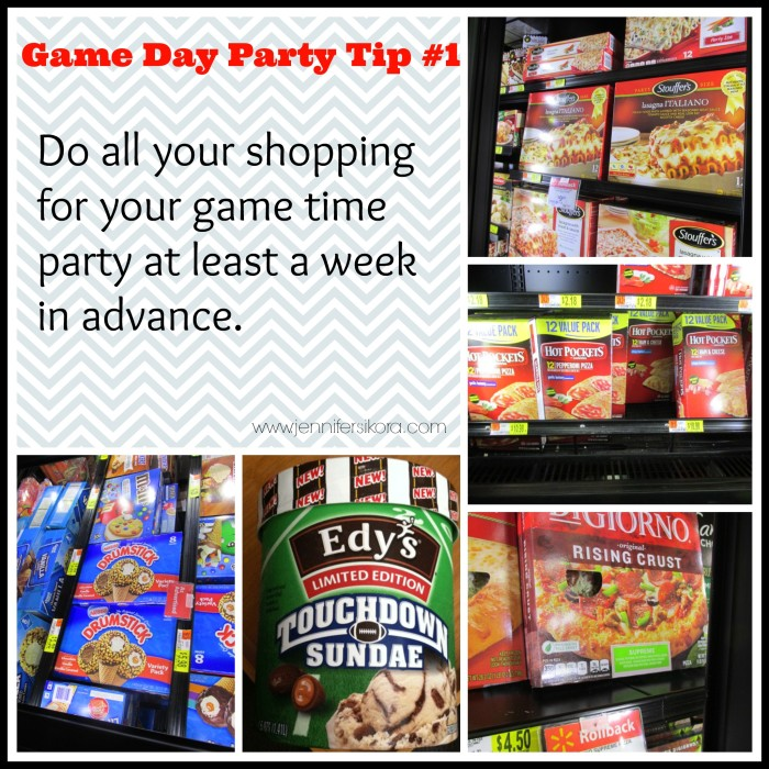 Get all your game day party shopping done at least a week in advance. #GameTimeGoodies #Shop #Cbias