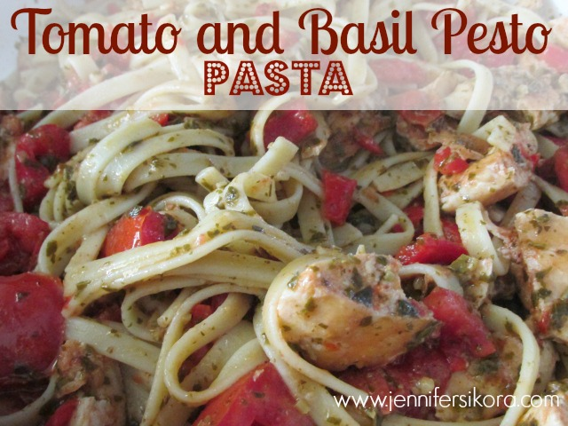 Tomato and Basil Pesto Pasta #15minutesuppers