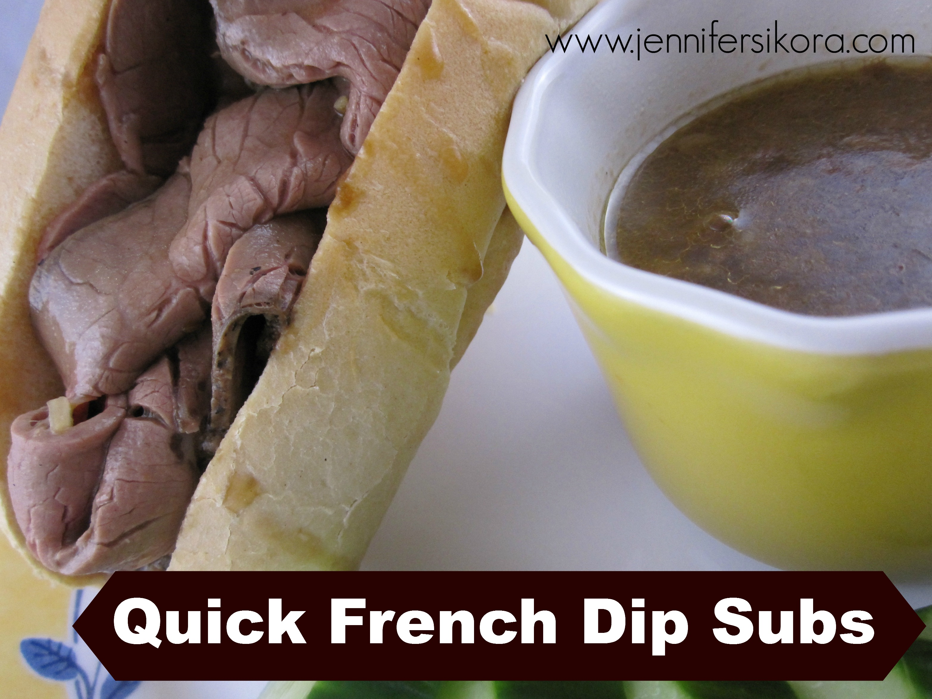Quick French Dip Subs with Homemade BBQ Potato Chips #15MinuteSuppers