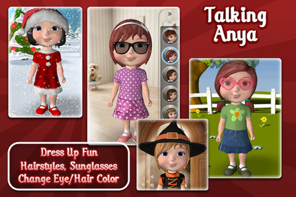 Children's App Review – Talking Anya Dress Up & Pet Puppies (Free App)