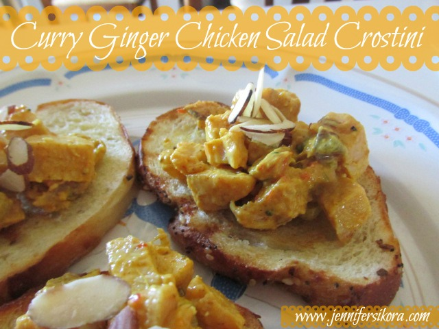 Curry Ginger Chicken Salad Crostini