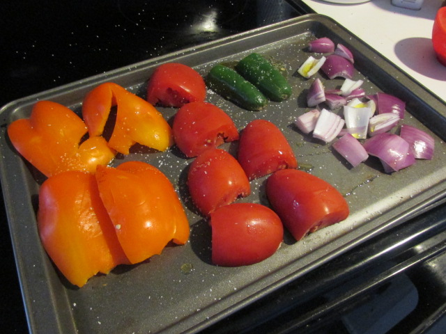Roasted veggies make the perfect salsa #CookitGF #Shop #Cbias