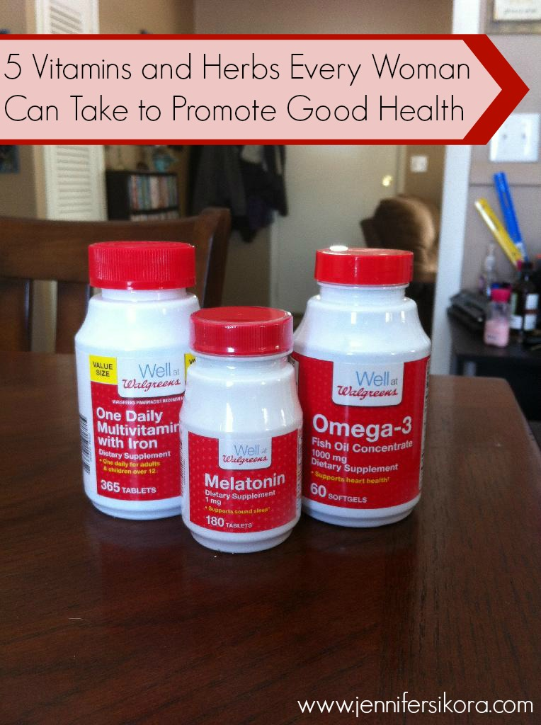 5 Vitamins and Herbs Every Woman Can Take to Promote Good Health #WellatWalgreens #Cbias #shop