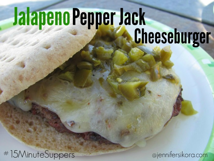 Jalapeno Pepper Jack Cheeseburger