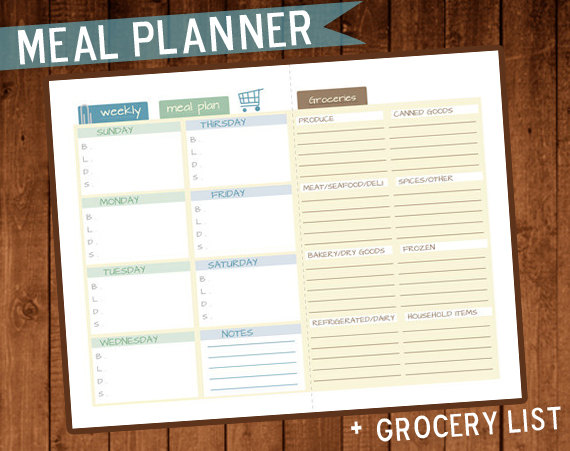 Free Weekly Meal Plan Printables from HP #HpSmartMom #HPPrintables