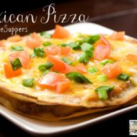 Mexican Pizza #15MinuteSuppers