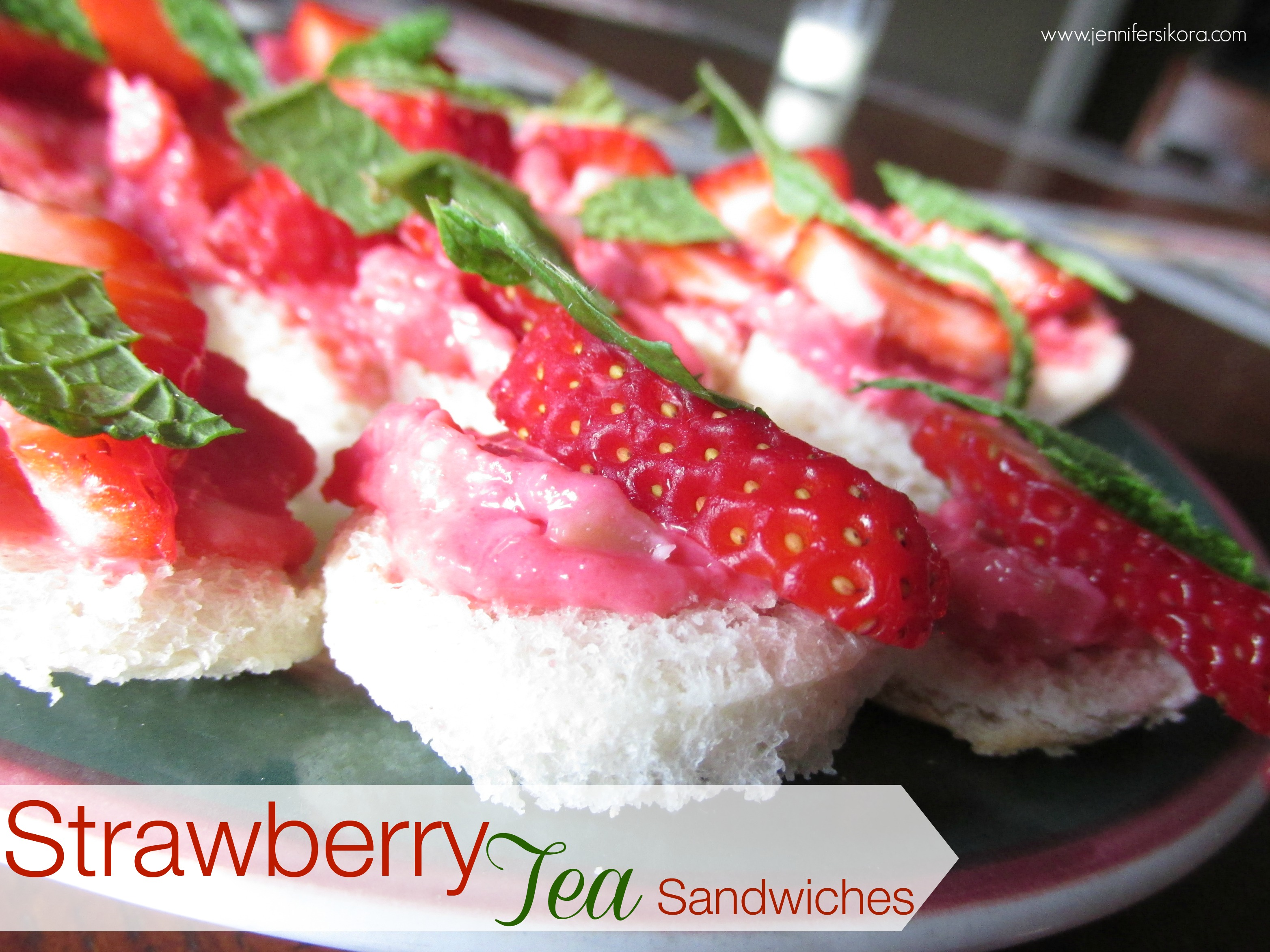 Strawberry Tea Sandwiches #15MinuteSuppers