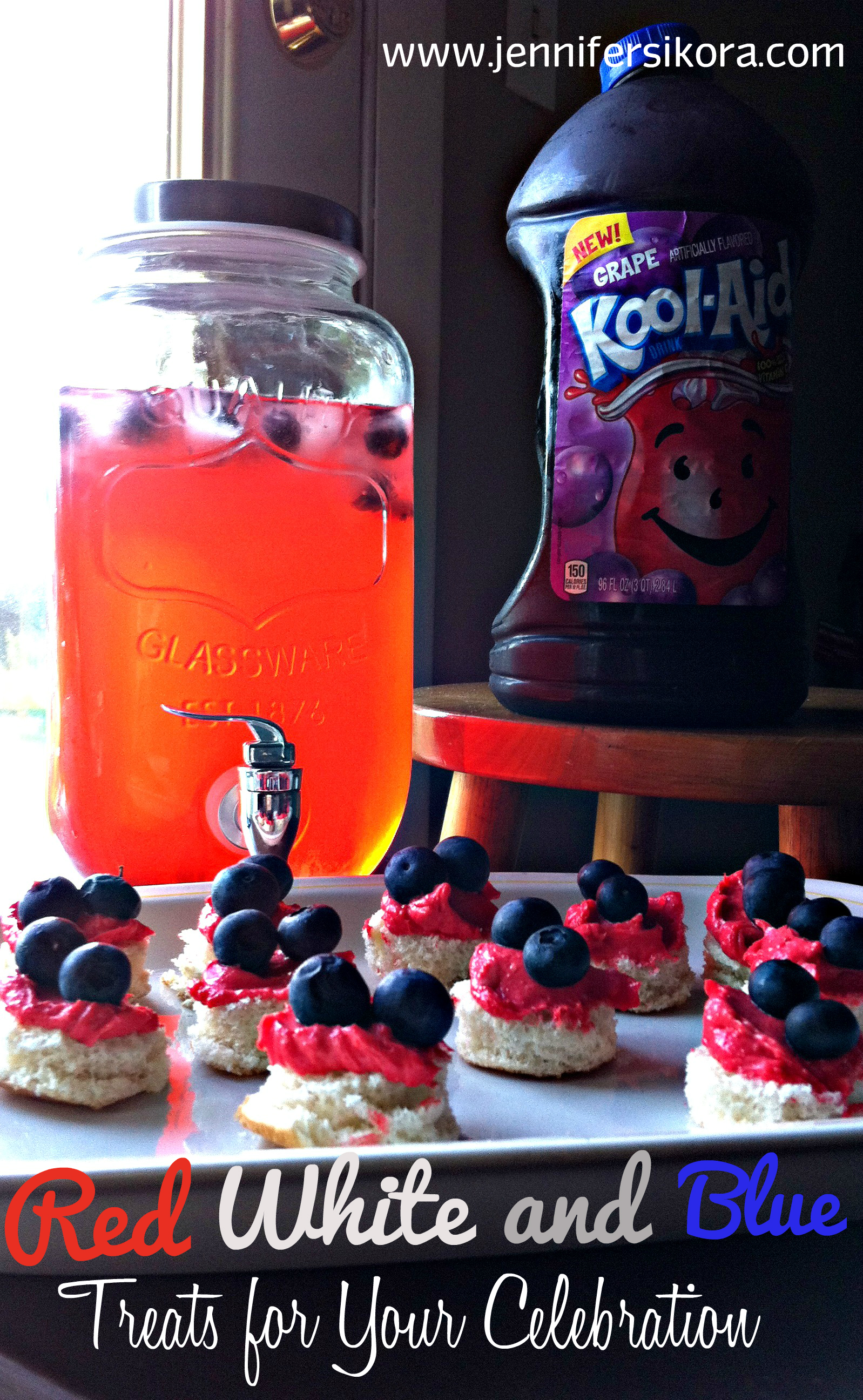 Red White and Blue Spritzer featuring Kool-Aid Fruit Drinks + Another Easy 4th of July Recipe You Can Make