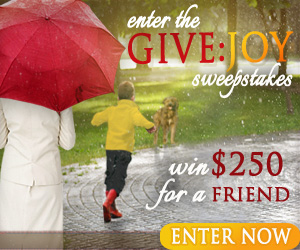 Heaven Sent Rain and Give Joy Giveaway