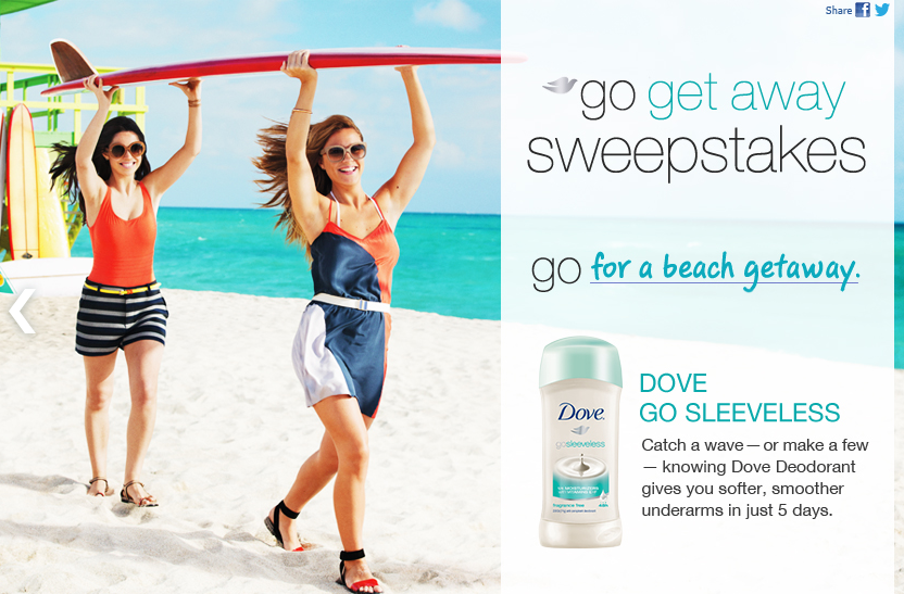 The Sleeveless Summer Challenge sweepstakes