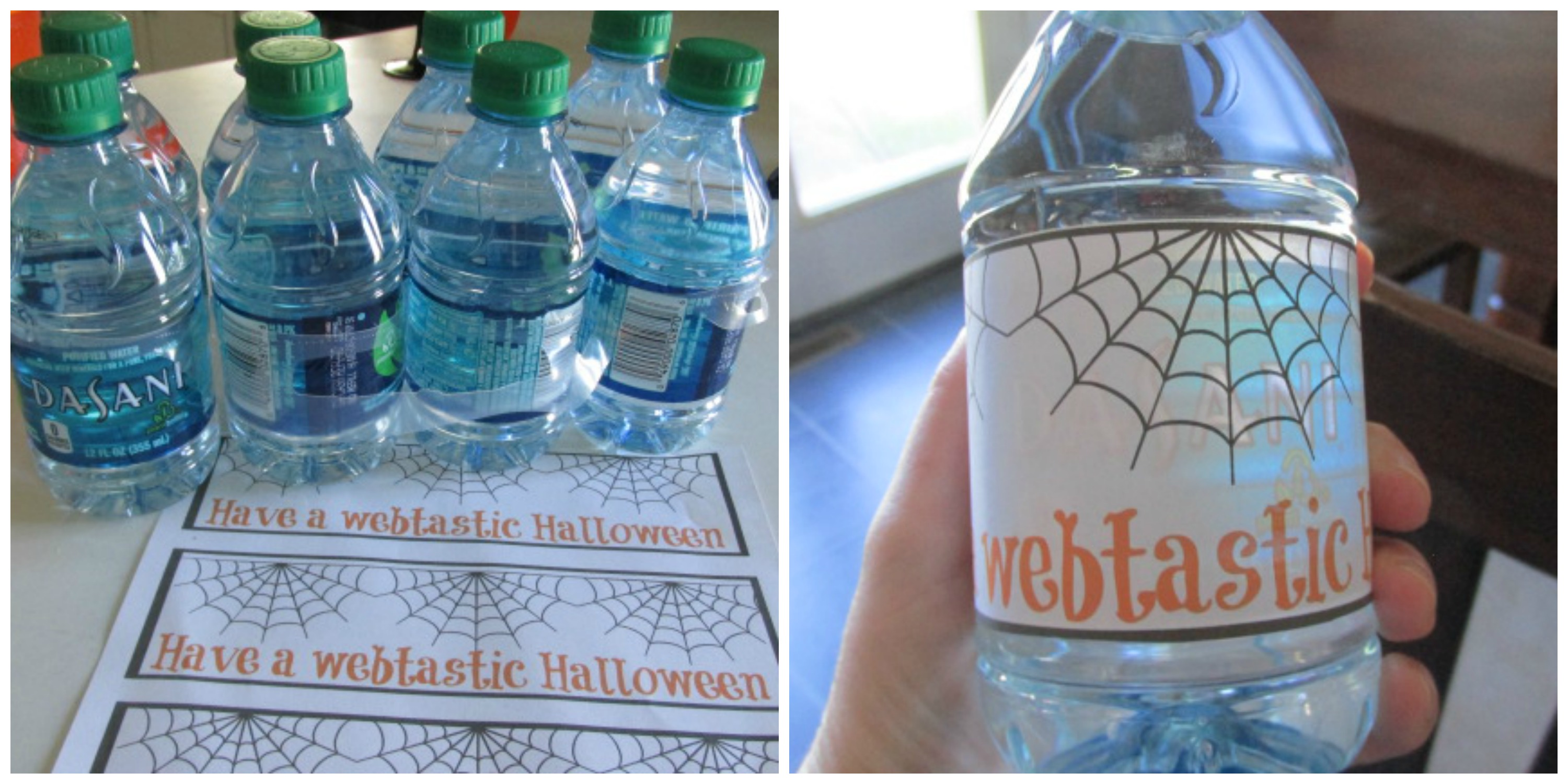 Graveyard Slime Punch + a Cute Halloween Printable for your Dasani Water Bottles