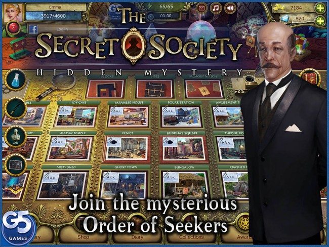 A Fun Free App For All – The Secret Society Hidden Objects Game