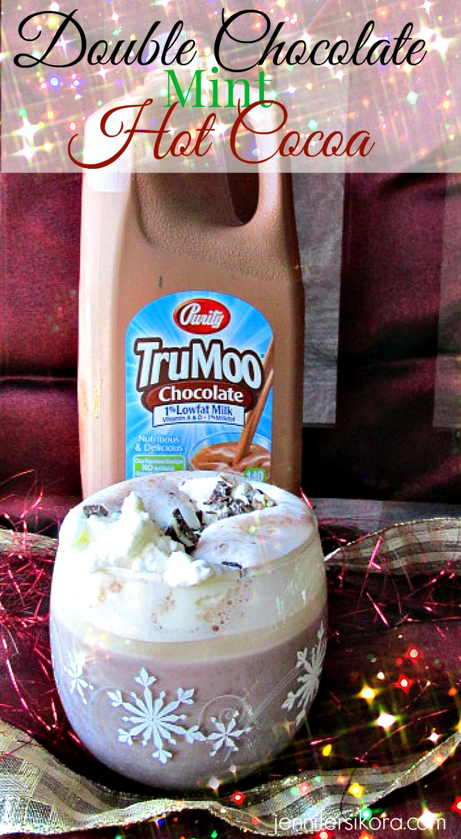Double Chocolate Mint Hot Cocoa Featuring TruMoo Chocolate Milk