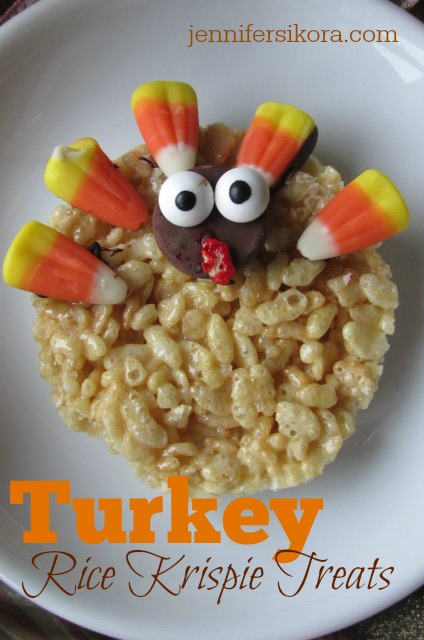 Turkey Rice Krispie Treat Cookies – The Perfect Kid Friendly Dessert