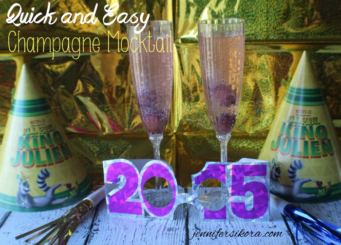 Ring in the New Year with King Julien on Netflix and this Super Easy Champagne Mocktail