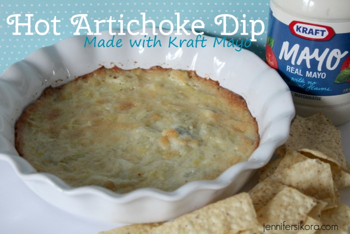 Hot Artichoke Dip Featuring KRAFT Real Mayo Mayonnaise