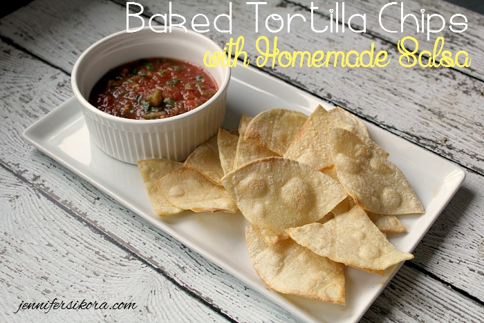 Baked Tortilla Chips with Quick and Easy Salsa
