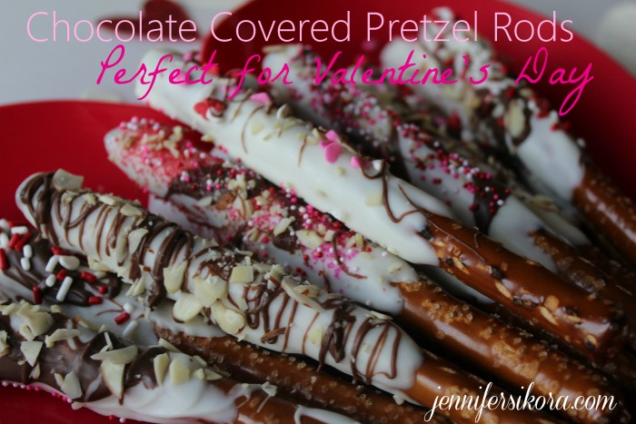 Chocolate Covered Pretzel Rods 1