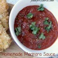 Pepper Jack Cheese Wedges and Homemade Marinara Sauce