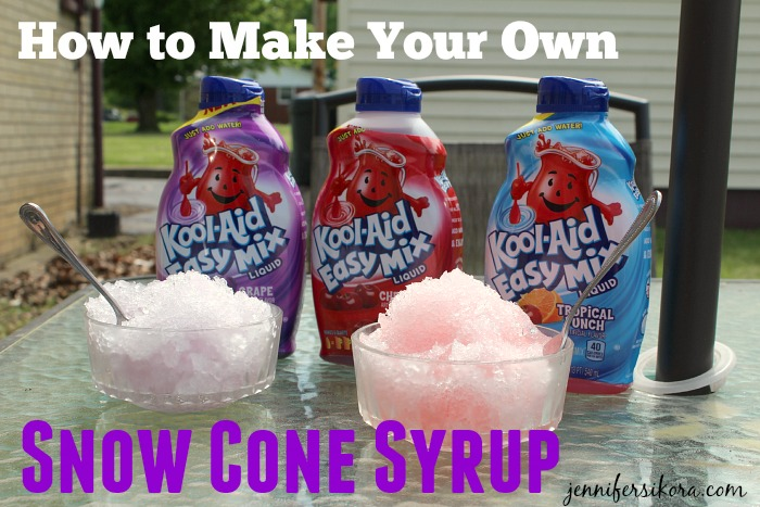 Make Your Own Snow Cone Syrup Using Kraft Kool-Aid Easy Mix