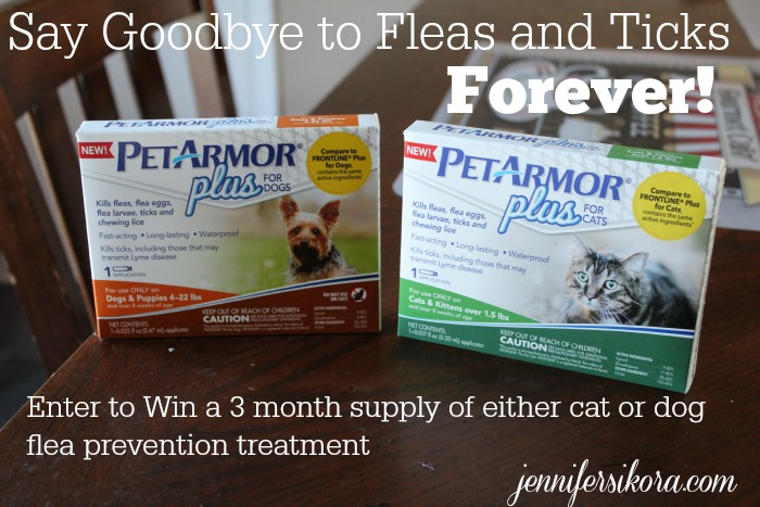 Flea and Tick Prevention with #PetArmorPlus + Giveaway