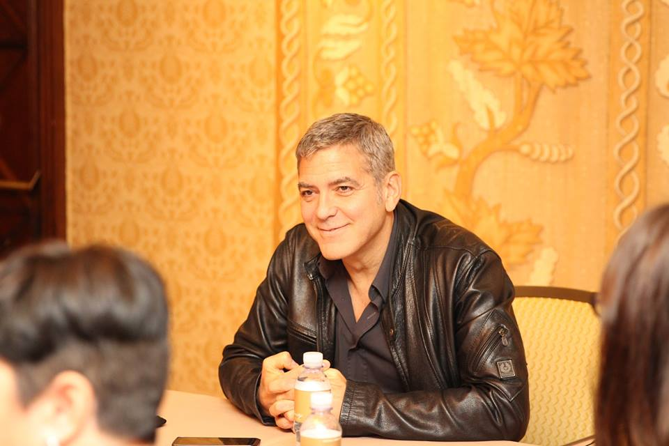George Clooney Spills About Working With Raffey Cassidy and Britt Robertson in Tomorrowland #TomorrowlandEvent
