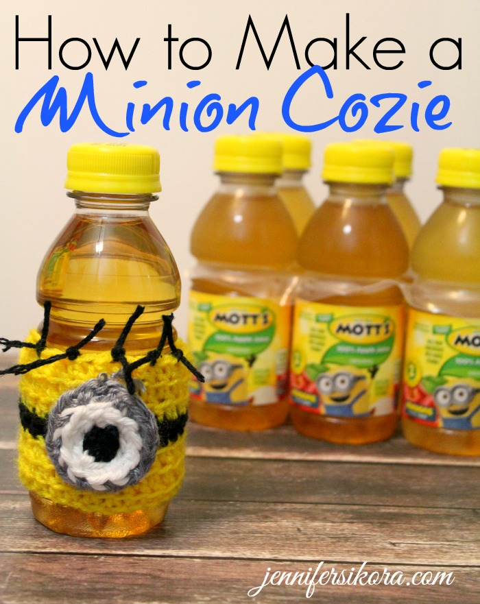 How to Create Your Own Minion Cozie for Your Limited Edition Mott's Apple Juice