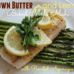 brown butter and lemon baked mahi mahi