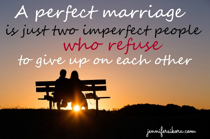 Imperfect People Make the Perfect Marriage