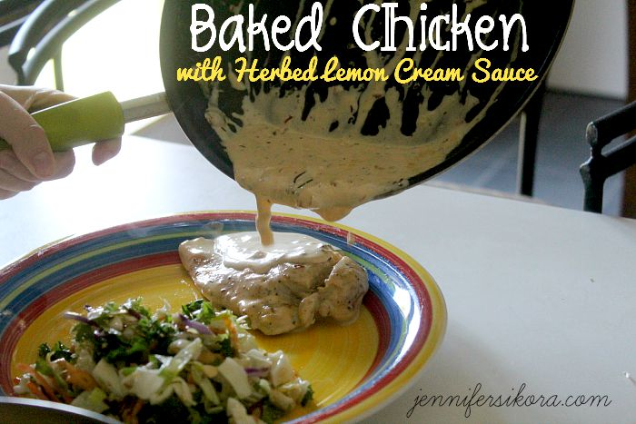 Baked Chicken in Herb Lemon Cream Sauce