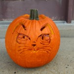 Cat pumpkin using Oriental Trading Carving tools