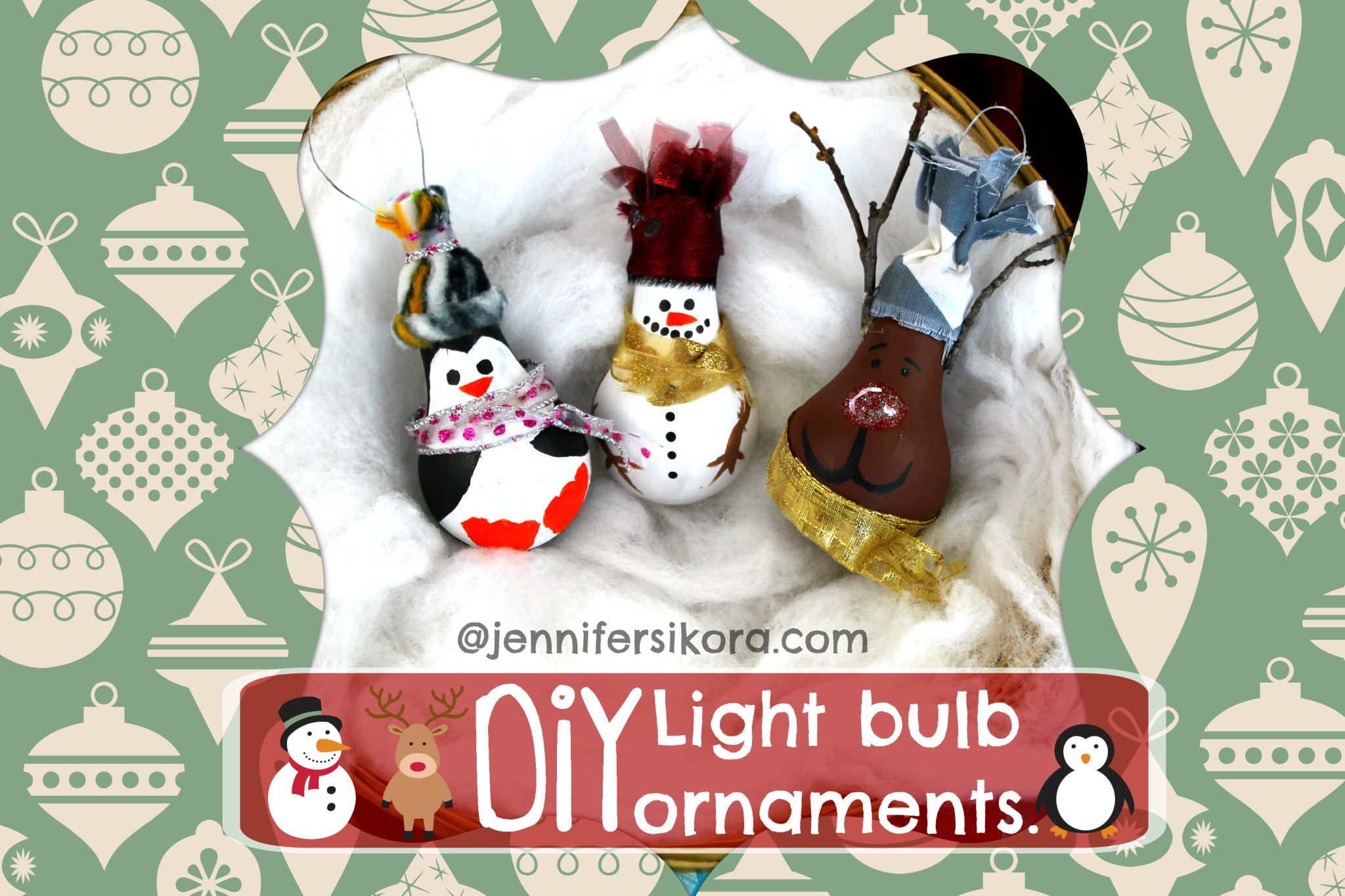 How to Make Light Bulb Christmas Ornaments