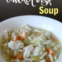 Lemony Chicken Orzo Soup